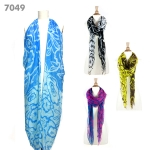 7049 Multi Print Color Scarf/Sarong