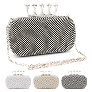 0102 Rhinestone Knuckle Clutch