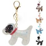 RS0141 Glittery Dog Keychain