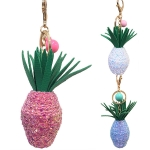 RS0146 Glittery Plant Pot Keychain
