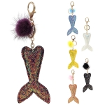 RS0148 Glittery Mermaid Tail Keychain