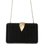 0208 Solid Color with Leaf Lock Evening Clutch