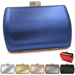 0905 Shiny Metallic Clutch