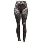 10097 Metalic Leopard Leggings