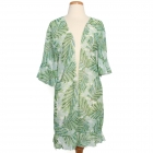 10899 Leafy Kimono w/Ruffle Sleeves, Green