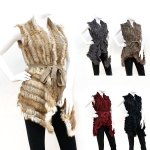 1201 REAL FUR PONCHO WITH BELT