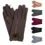 1503 Jersey Touch Gloves With Fur