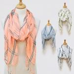 16001 Woven Metallic Yarn Embellished Scarf