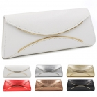 18042 Gold metal accent clutch