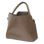 2047 Solid Color Tote bag with Small Pouch, Beige