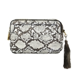 2059 Python Pattern Clutch/Crossbody Bag