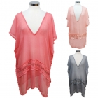 21511 Flower Lace Poncho