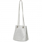 225 Rhinestone Mini Bucket Bag