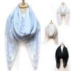 26301 Edge Lace Solid Scarf