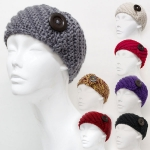 30004 Button Knitted Head Wrap