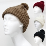 30023 Knitted Hat with Pom Pom