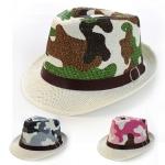 30054 Camo Fedora Hat