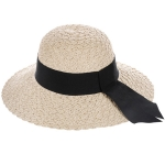 AO3098 Woven Hat W/Band, Beige