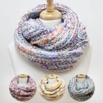 50046 Pastel Knitted Infinity Scrf