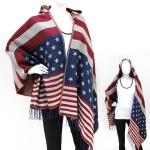 50060 US Flag Poncho