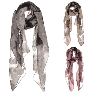 AO567 Floral Mesh Scarf