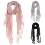 AO569 Crochet Solid Scarf
