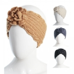 CH6406 Flower Knitted Headband