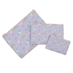 11170039CB Unicorn Cosmetic Bag 3Pc Set