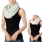 CS7039 Check Patterned Infinity Scarf