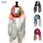 7047 Feather Print Scarf