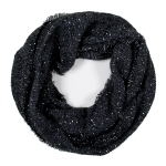 LOF761 Solid Boucle Infinity Scarf, Black