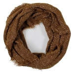 LOF761 Solid Boucle Infinity Scarf, Coffee