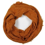 LOF761 Solid Boucle Infinity Scarf, Coral
