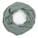 LOF761 Solid Boucle Infinity Scarf, Mint