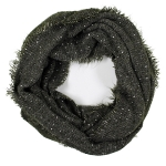 LOF761 Solid Boucle Infinity Scarf, Olive