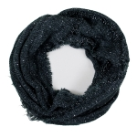 LOF761 Solid Boucle Infinity Scarf, Teal