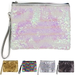 KM8129 Plain Reversible Sequin Wristlet