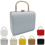 8191 Metal Handle Accent Handbag