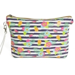 CB8235 Pineapple Stripe Beach Pouch Bag