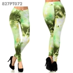 827PT072 Lady's Chemistry Electrifying Energy in Olive Printed Legging