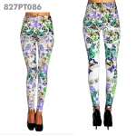 827PT086 Monae Sping Flowers and Butterflies Printed Legging
