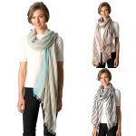 CS8315 Two Tone Viscose Stripe Scarf