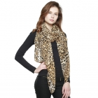 CS8431 Leopard Light Weight Scarf, Brown