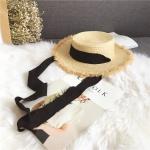 FH038A Raffia Straw Hat w/String