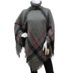 883081 Ladies Winter High Neck Poncho, Grey