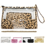 89558 Clear Clutch Bag