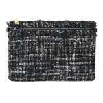 90970 Tweed Cross-body Bag, Blue