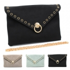 91460 Ring Accent Clutch W/Chain Strap