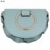 91711 Ring Handle Accent Handbag