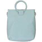 91872 Circle Handle Solid Tote Bag, Mint